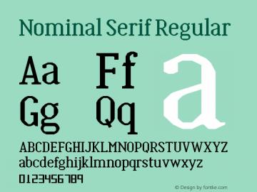Nominal Serif