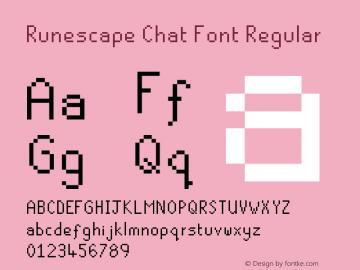 Runescape Chat Font