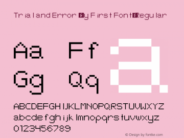 Trial and Error (My First Font)