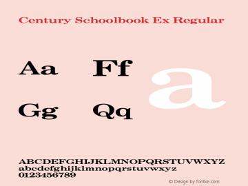 Century Schoolbook Ex