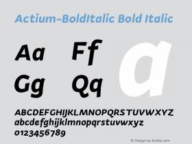 Actium-BoldItalic