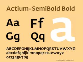 Actium-SemiBold