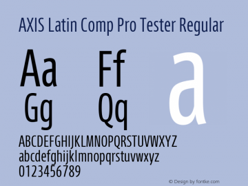 AXIS Latin Comp Pro Tester