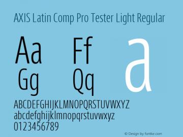 AXIS Latin Comp Pro Tester Light