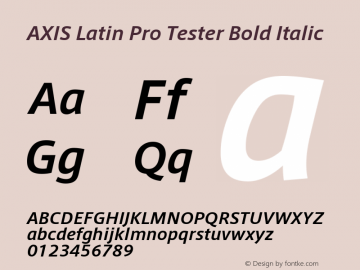 AXIS Latin Pro Tester Bold