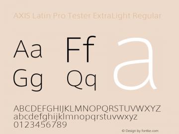 AXIS Latin Pro Tester ExtraLight
