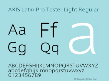 AXIS Latin Pro Tester Light