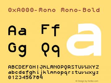 0xA000-Mono