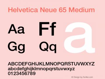 Helvetica Neue 65
