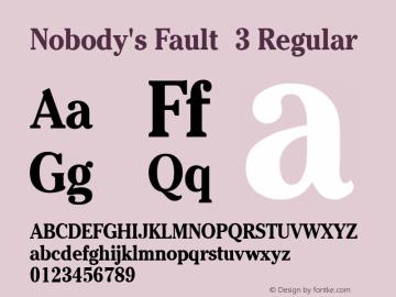Nobody's Fault 3