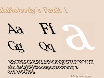 Nobody's Fault 1