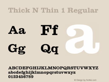 Thick N Thin 1