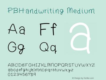 PBHandwriting