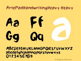 ArtePadHandwritingHeavy