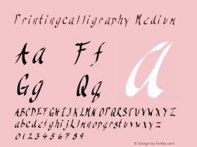 Printingcalligraphy