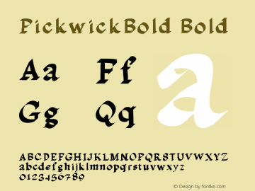 PickwickBold