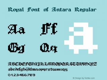 Royal Font of Antara