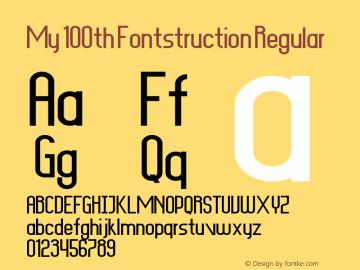 My 100th Fontstruction