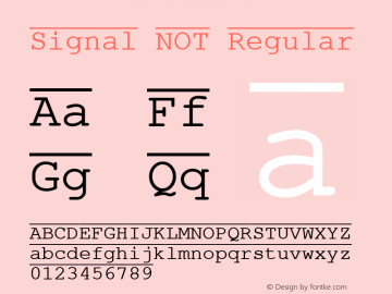 Signal NOT