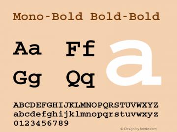 Mono-Bold