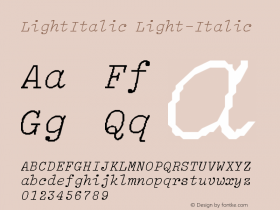 LightItalic