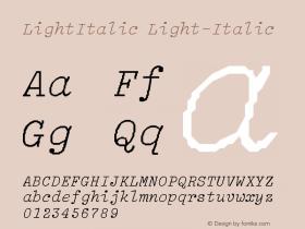 LightItalic