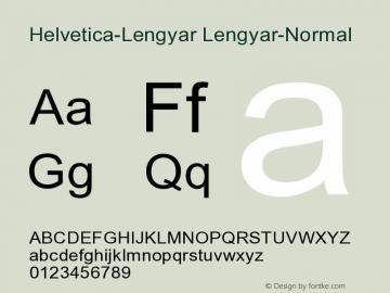 Helvetica-Lengyar