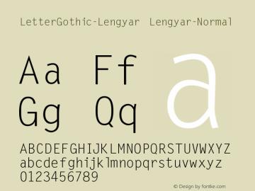 LetterGothic-Lengyar