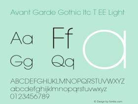 Avant Garde Gothic Itc T EE