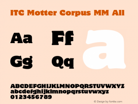 ITC Motter Corpus MM