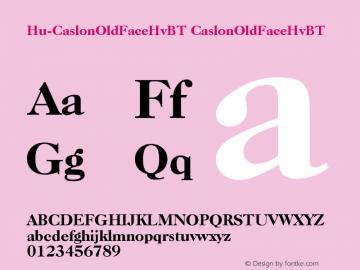 Hu-CaslonOldFaceHvBT