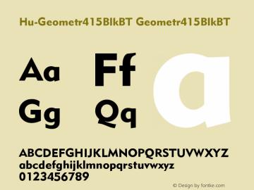 Hu-Geometr415BlkBT