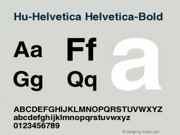Hu-Helvetica