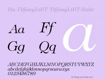 Hu-TiffanyLtBT