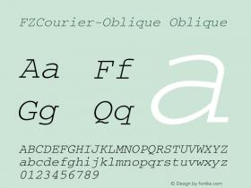 FZCourier-Oblique