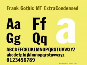 Frank Gothic MT