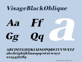 VisageBlackOblique