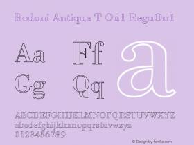 Bodoni Antiqua T Ou1