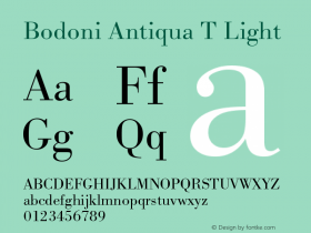 Bodoni Antiqua T