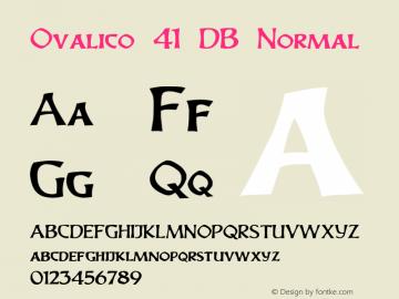 Ovalico 41 DB