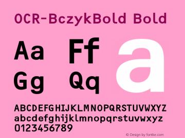 OCR-BczykBold