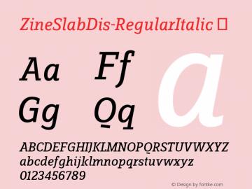 ZineSlabDis-RegularItalic