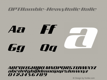 OPTIIambic-HeavyItalic