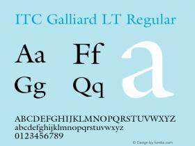 ITC Galliard LT