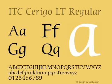 ITC Cerigo LT