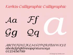 Kerkis-Calligraphic