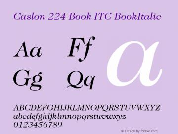 Caslon 224 Book ITC