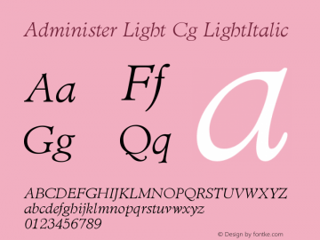 Administer Light Cg