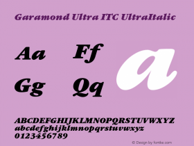 Garamond Ultra ITC