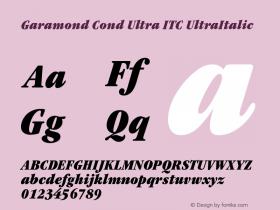 Garamond Cond Ultra ITC